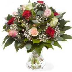 Romantic bouquet with roses