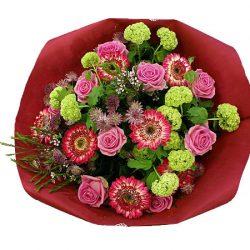 Bloemen bezorgen in Den Haag: roze boeket