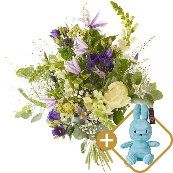 Splendid baby boy bouquet eith Miffy