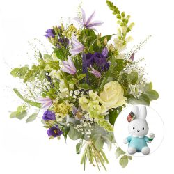 Splendid baby boy bouquet eith Miffy