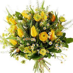 Vorllijk geel voorjaarsboeket