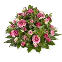 Pink funeral arrangment