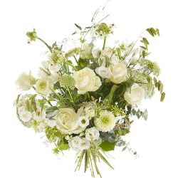 Bouquet of white flowers - sympathy