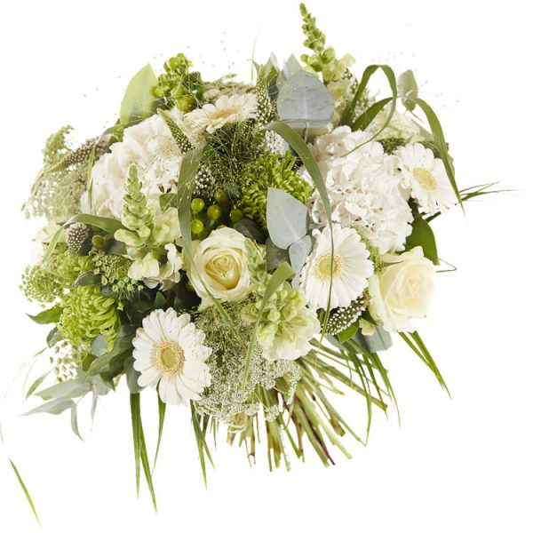 A shining white bouquet