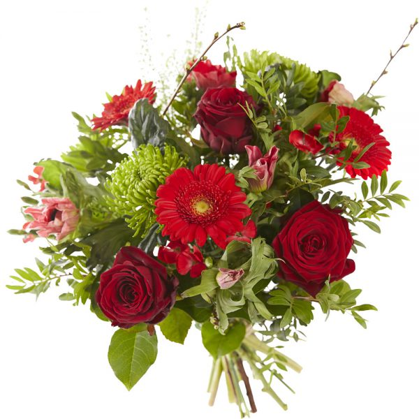 Red Valentine's bouquet