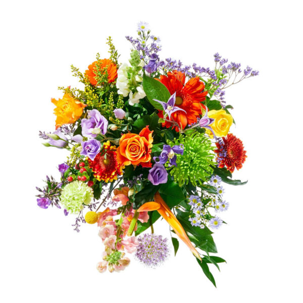 A cheerful field bouquet of mixed colors | Flower delivery The Hage