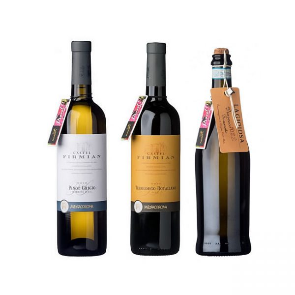 Complete your flower gift with a Trio of wine