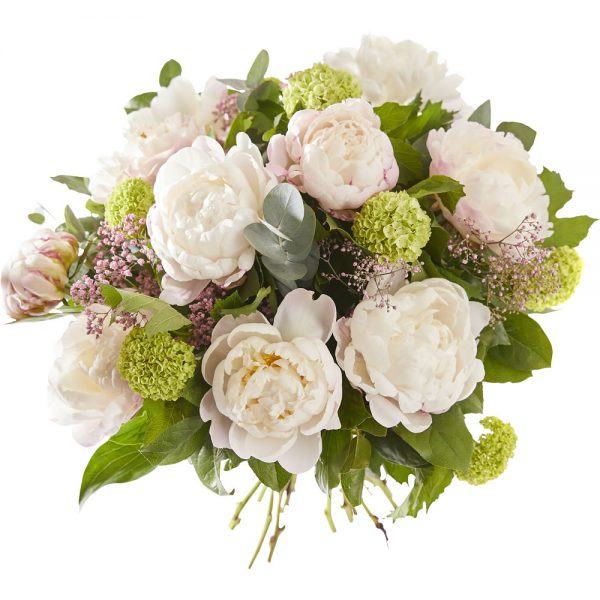 Pastel peony bouquet