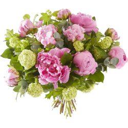 Boeket roze pioenrozen Sarah Bernardt