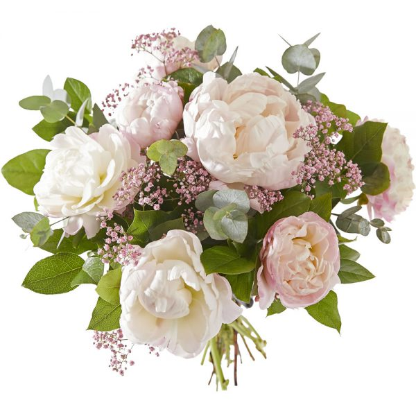 Pastel bouquet with peonies