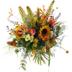Luxury picking bouquet with summerflowers and sunflowers
