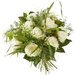 Bouquet of white roses for delivery in The Hague