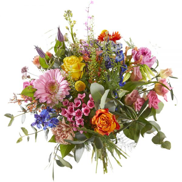 Colorful bouquet for a complete flower festival
