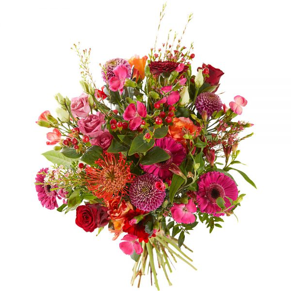 [;nl]Boeket roze, oranje, fuchsiaExciting bouquet in pink and orange tones