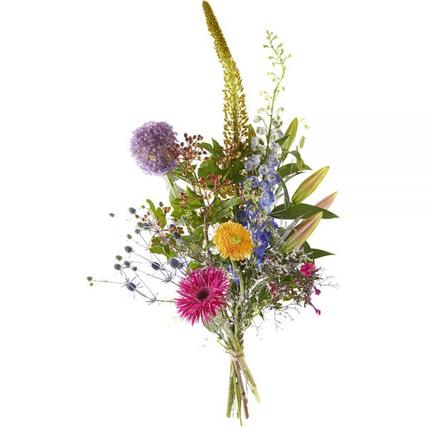 Cheerful and colorful picking bouquet