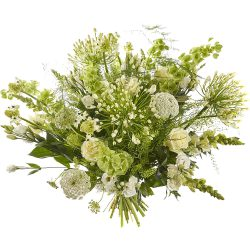 Lavish white bouquet in a vase