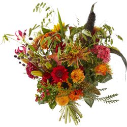 Cheerful autumn bouquet