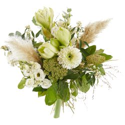Mixed bouquet with white flowers and greenery