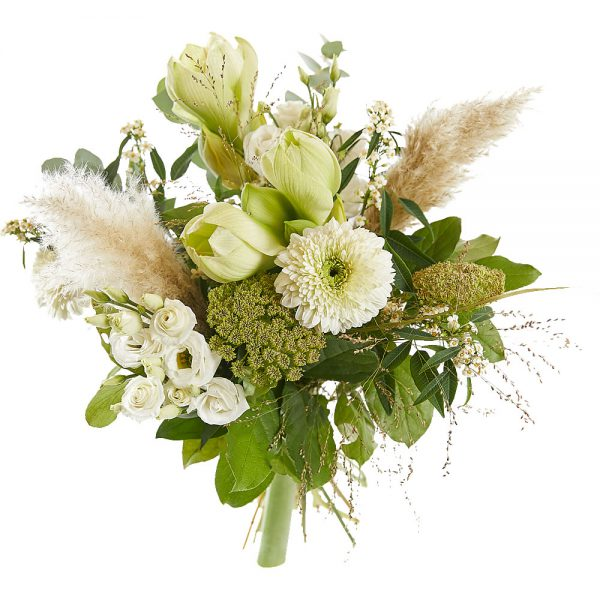 Wit gemengd boeket bloemen