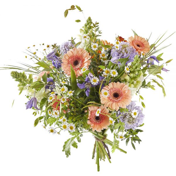 Field bouquet of soft pastel flowers for delivery in The Netherlands