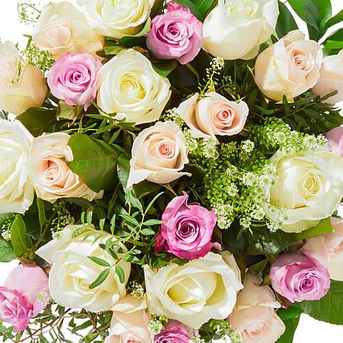 Bouquet soft pastel roses